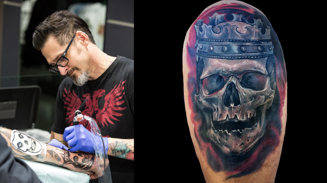 Joey Hamilton tattoo, ink master, skull