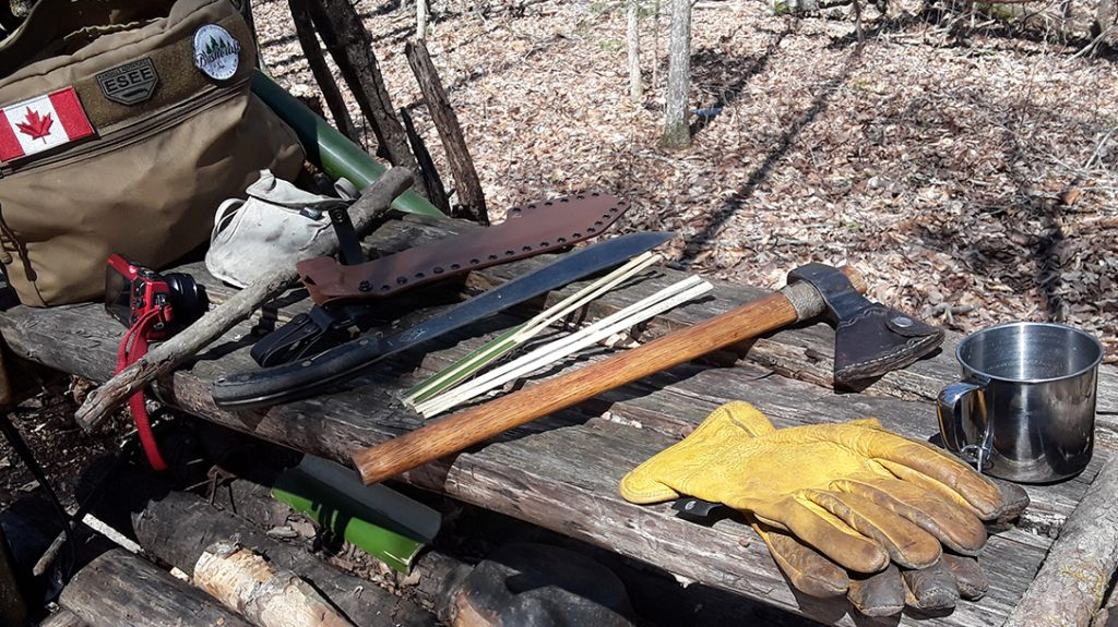 Coronavirus camp, backwoods survival, tools