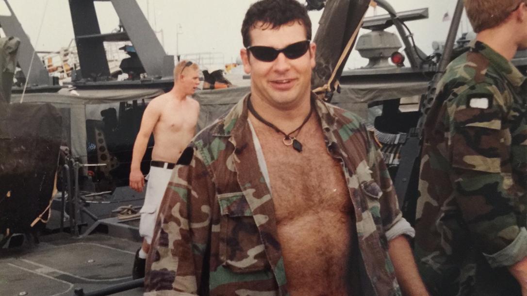 Navy Seal Clint Bruce on deployment.