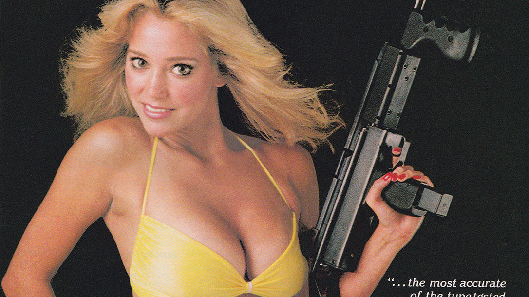 Beautiful women with weapons were a staple for gun mags from back in the day.
