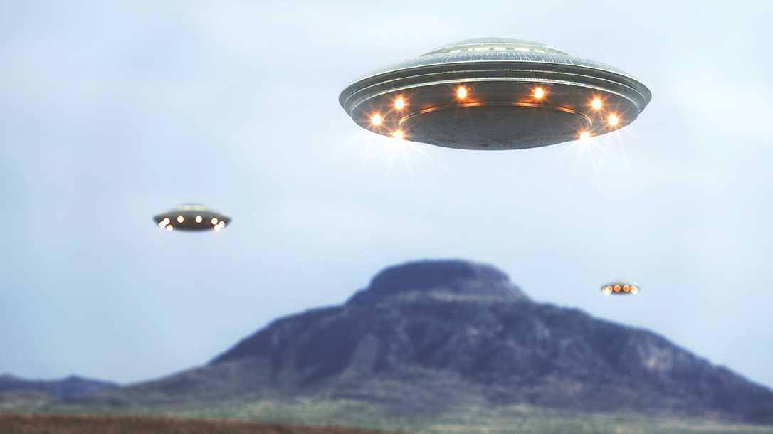 UFO tinfoil hat conspiracy at Roswell, New Mexico.