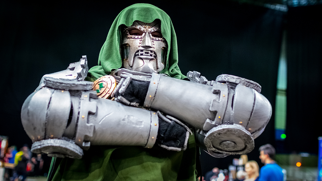 Doctor Doom stands above all who dare oppose him.