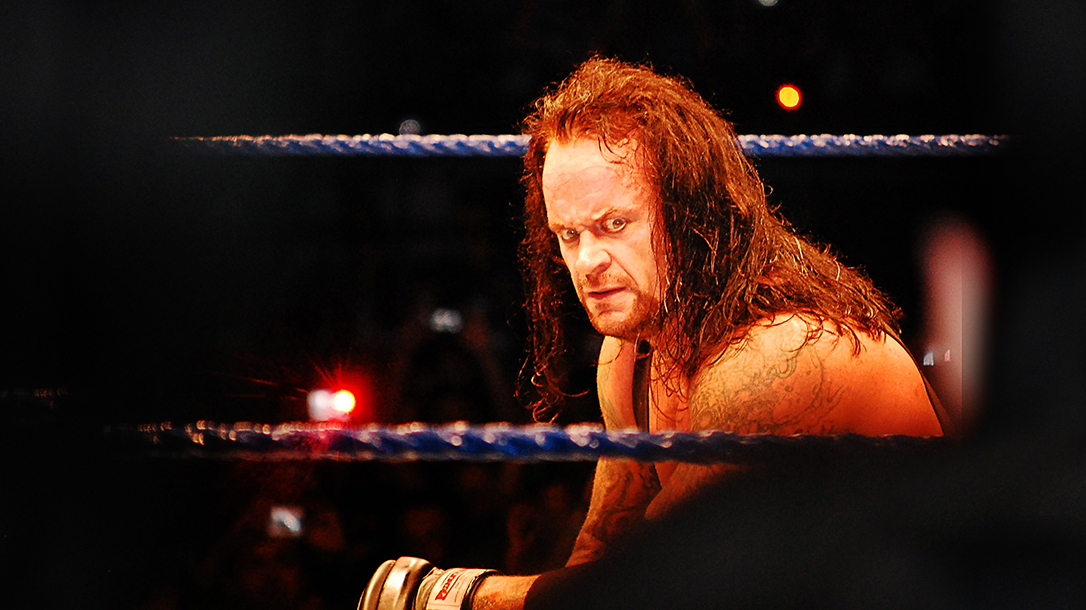 The deadman's stare will get you, beware The Undertaker!