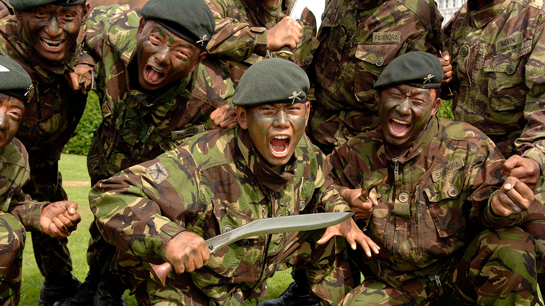 1st BN Royal Gurkhas are fierce warriors.