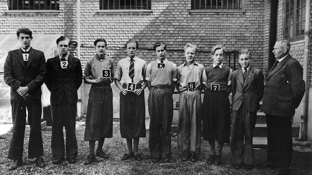 Churchill Club members in an arrest photo.