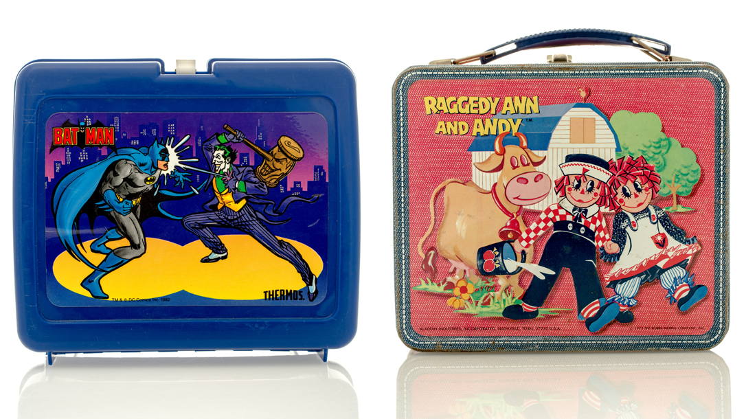 Vintage metal lunch boxes are worth money!