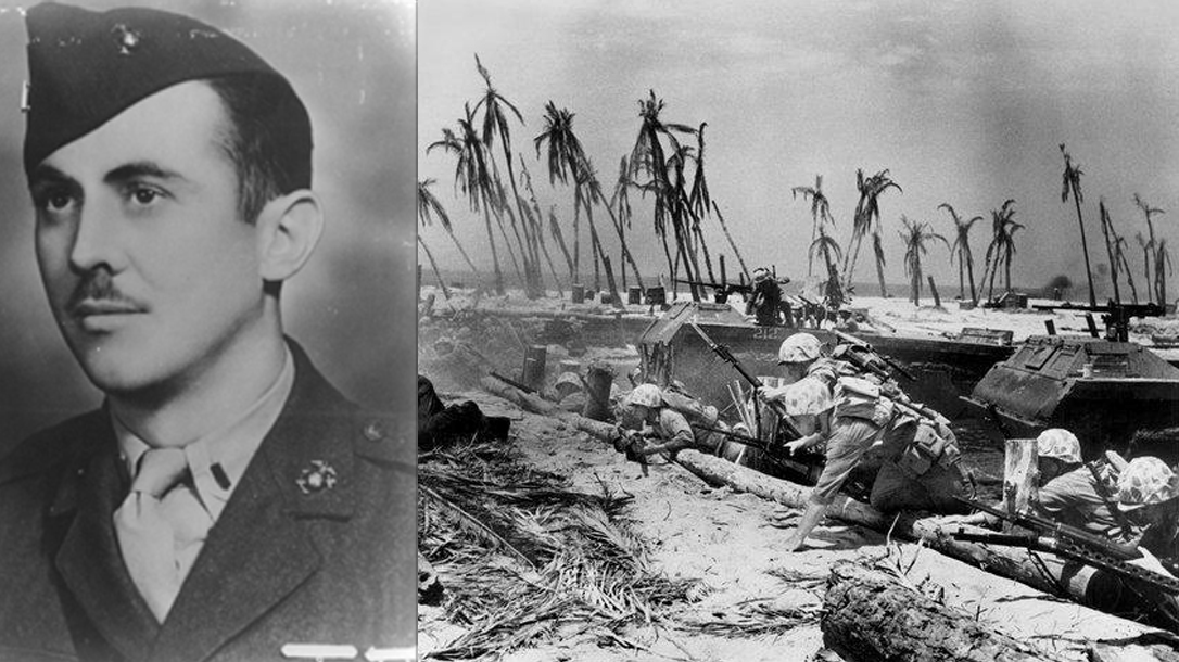 Hero and Medal of Honor at the Battle of Tarawa.