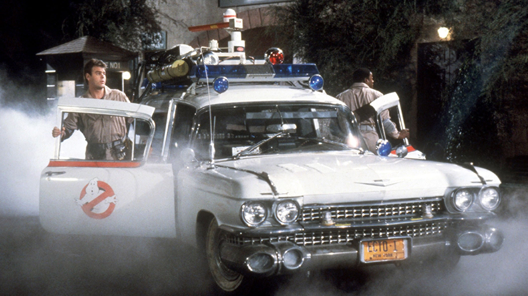 Ecto 1 from the 1984 classic film, Ghostbusters.