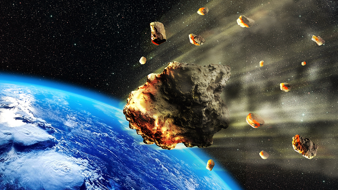 Large amounts of cosmic space rock hurtles dangerously towards Earth.