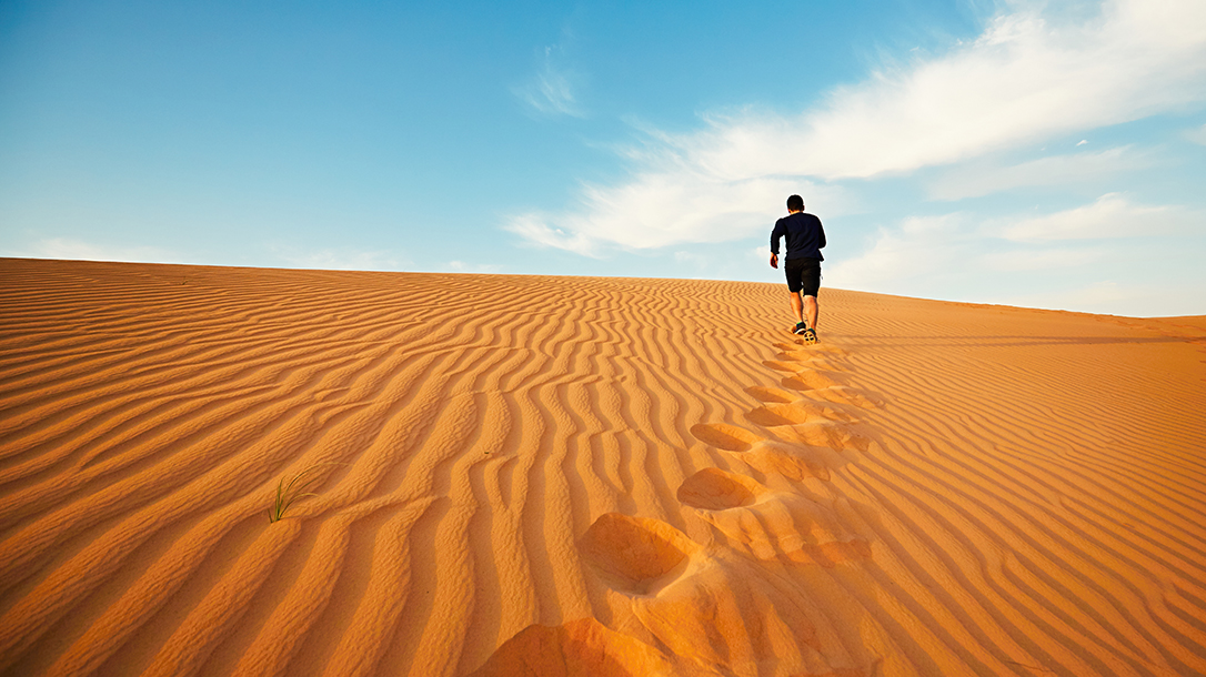 Solo journeys through the desert regions of the earth can prove perilous.