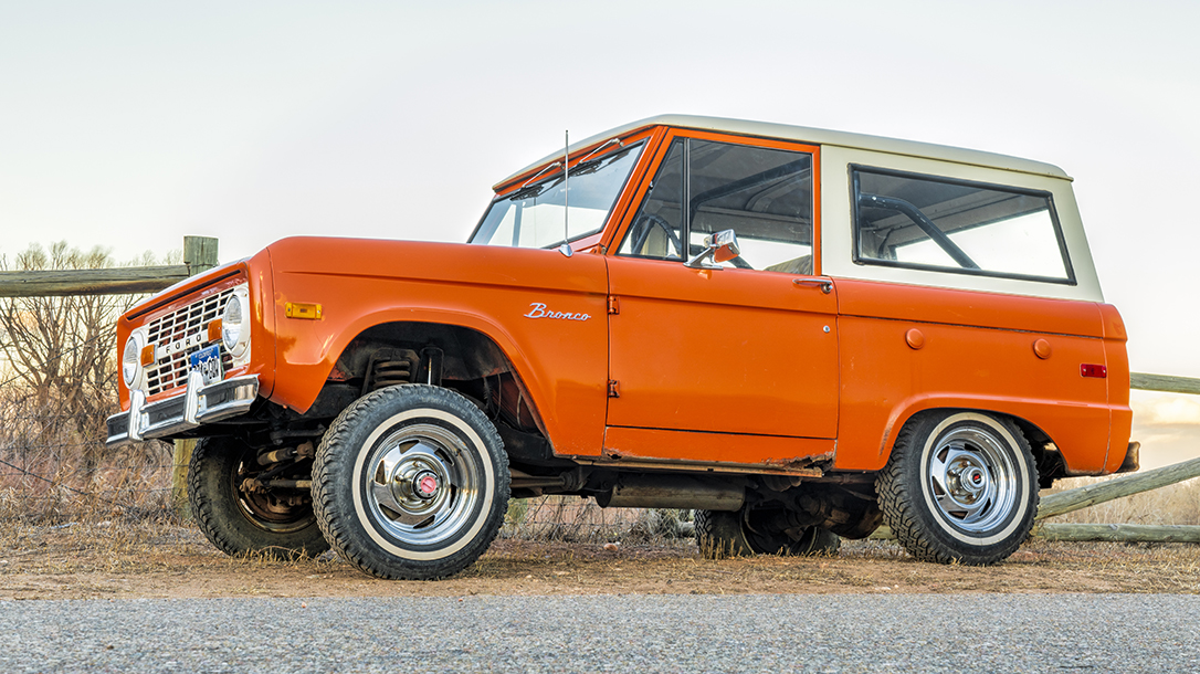 The vintage 4 X 4 Ford Bronco is a classic.