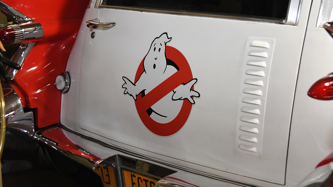 This logo became iconic with pop culture on the Ecto 1.