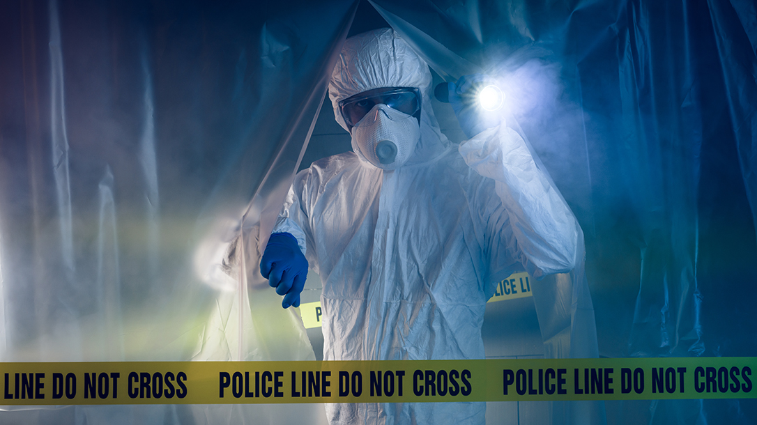 Crime scene cleanup and forensic scientists investigate!