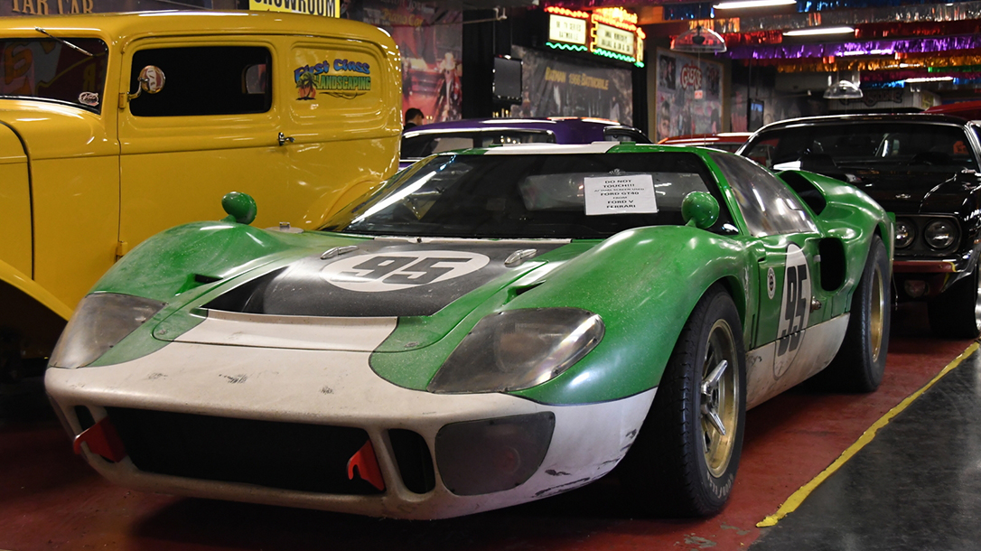 The iconic GT40 sits at home at the Voler Auto Museum.