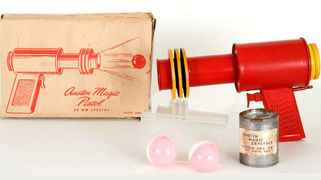 The Austin Magic Pistol goes off with a bang and was a super dangerous toy!
