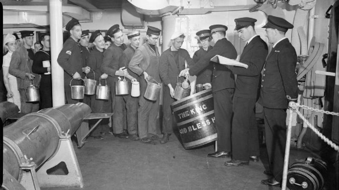 Rum Ration Aboard the HMS King George.