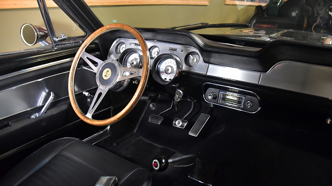 The interior design screams classic 60's muscle car.