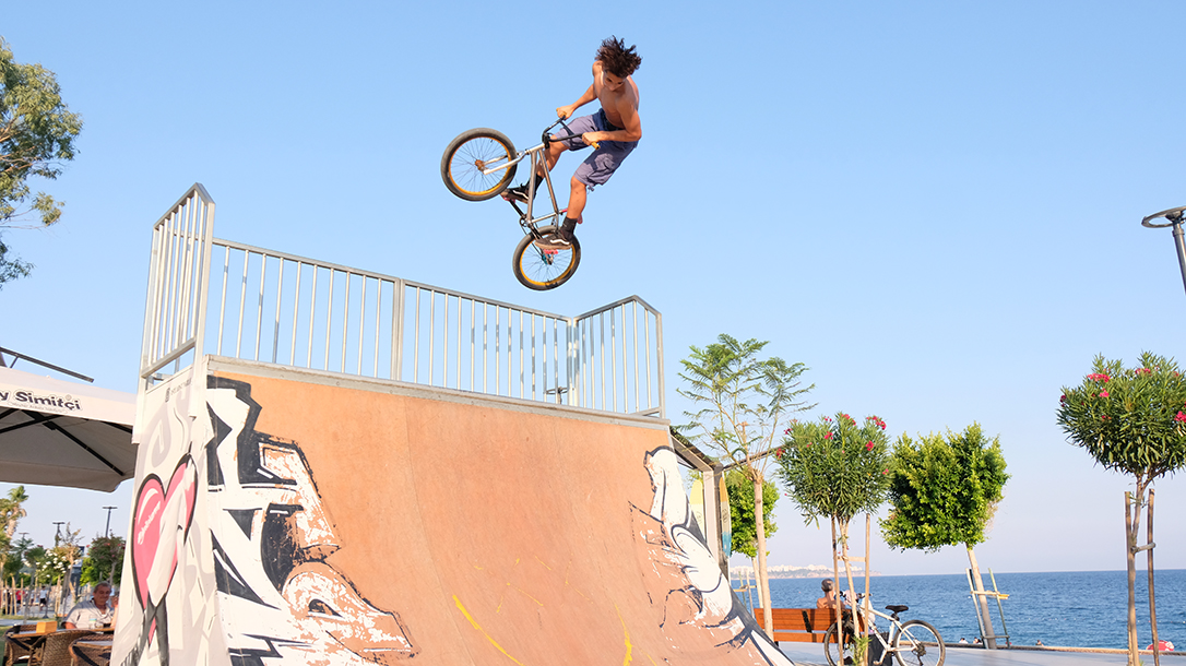 The half pipe was many a BMX kids favorite place to be.