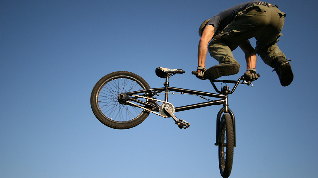 This dude does amazing BMX big air tricks!